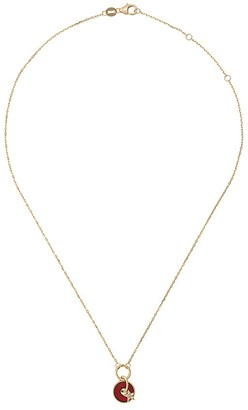 Foundrae 18kt yellow gold diamond star disc drop necklace