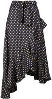 Zimmermann asymmetric polka dot skirt