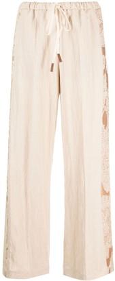 Alysi Side Stripe-Detail Wide-Leg Trousers