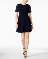 Jessica Howard Petite Lace-Sleeve Fit & Flare Dress