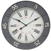Infinity Instruments Metal 24 Hour Clock - Grey