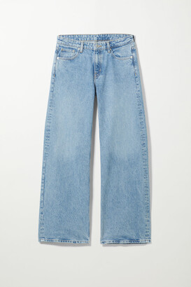 Weekday Ray Low Wide Jeans - Black