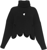 Antonio Berardi Cropped Cutout Turtleneck Sweater