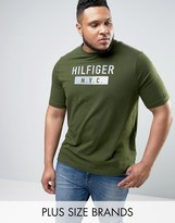 Tommy Hilfiger PLUS Brad T-Shirt NYC Logo in Green