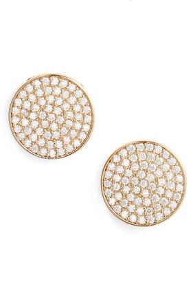 Nordstrom Pave Disc Stud Earrings
