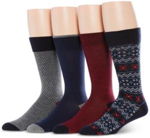 Perry Ellis Men's 4-Pk Fair Isle Socks
