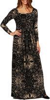 24/7 Comfort Apparel Twilight Terrazzo Maxi Dress