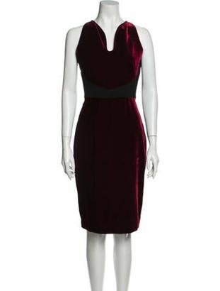 Roland Mouret V-Neck Knee-Length Dress