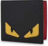 Fendi Monster leather billfold wallet