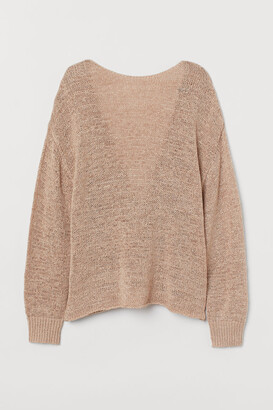 H&M Low-backed Sweater - Beige
