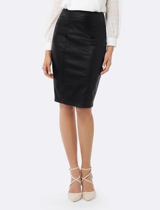 Forever New Alice PU Pencil Skirt - Black - 6