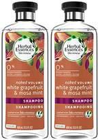 Herbal Essences Biorenew White Grapefruit & Mosa Mint Naked Volume Shampoo, 13.5 FL OZ (2 Count)