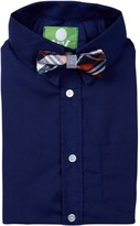 Future Trillionaire Solid Long Sleeve Shirt & Bow Tie (Toddler, Little Boys, & Big Boys)