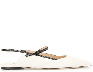 Jimmy Choo Ree pointed-toe ballerina shoes