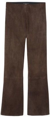 Theory Suede Kick-Flare Pants