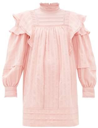 Etoile Isabel Marant Patsy Crochet Insert Cotton Voile Mini Dress - Womens - Pink