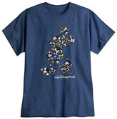 Disney Mickey Mouse Heathered Tee for Adults - Walt World - Blue