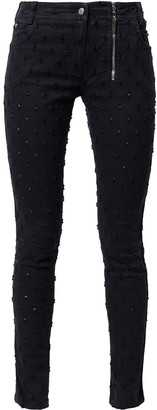 Pre-Owned Embroidered Skinny Jeans