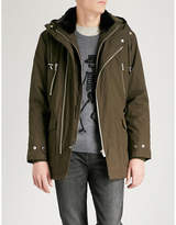 The Kooples Andrew faux-fur collar cotton-twill parka jacket