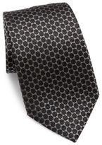 Armani Collezioni Two-Tone Printed Silk Tie