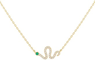 Adina's Jewels Pave Snake Pendant Necklace
