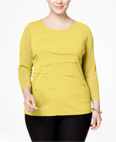 Alfani Plus Size Tiered Top, Only at Macy's