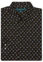 Perry Ellis Non-Iron Mini Star Dot Print Shirt