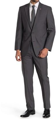 Brooks Brothers Medium Grey Pinstripe Two Button Notch Lapel Regent Fit Suit