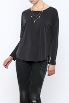 Everly Grey Ribbed Shirt