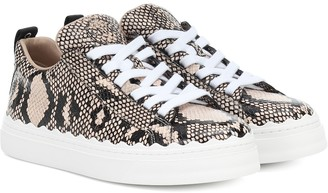 Chloé Exclusive to Mytheresa Lauren leather sneakers