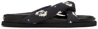Kenzo Black Ikat Komfy Flip Flops