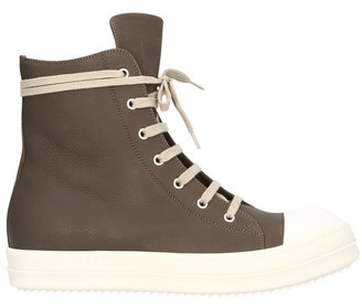 Rick Owens High top laced up sneakers