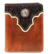 Ariat A35104129 Top Concho Overlay Bi-Fold Wallet, Black & Brown - One Size