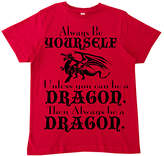Micro Me Red 'Always Be a Dragon' Tee - Toddler & Boys