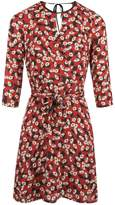 Morgan Floral Print Dress With Cut-Outs