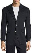 Valentino Two-Button Cashmere Blazer, Navy