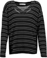 Kain Label Etta Cutout Striped Stretch-Modal Sweater
