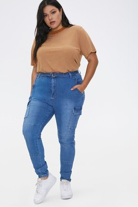 Forever 21 Plus Size Cargo Jeans