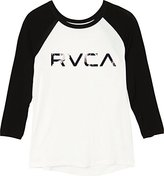 RVCA Juniors Faded Floral Color Block Graphic Tee