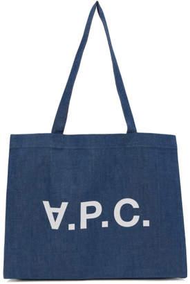 A.P.C. Indigo Daniel Shopping Tote