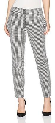 Kasper Women's Petite Houndstooth Slim Pant