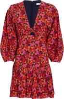 Derek Lam 10 Crosby Talia Twisted Floral Mini Dress