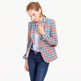 J.Crew Campbell blazer in crimson plaid