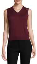 RED Valentino Cashmere Silk Ribbed Top