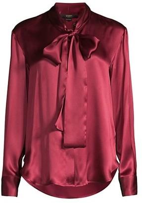 Seventy Tie-Neck Silk Chiffon Blouse