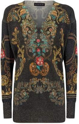 Etro V-Neck Paisley Sweater