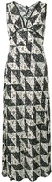 ALEXACHUNG Alexa Chung Bias floral tile print dress