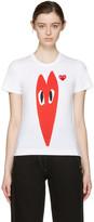 Comme des Garcons White Hearts T-shirt