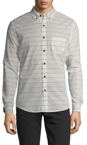 Life After Denim Cotton CPH Slim Fit Striped Sportshirt