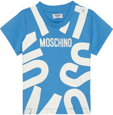 Moschino Blown up logo cotton t-shirt 6-36 months